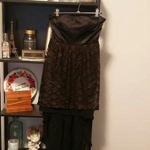 Wet Seal | High low corset back dress
